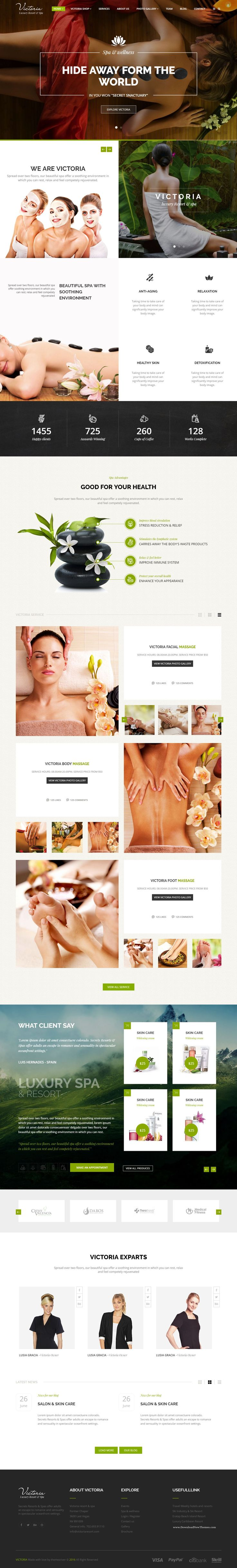 Victoria Luxury Responsive Premium HTML Bootstrap Template for Beautiful Resort and Spa Website #webdesign #healthcare #beauty