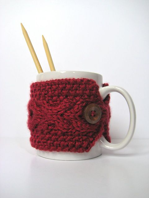 Knit Koozie Pattern : 17 Best images about KNITTING: CUP COZY on Pinterest Free pattern, Knit pat...
