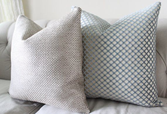 Designer Metallic Pillow Cover Silver Neutral by MotifPillows