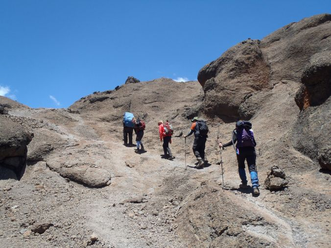 Blogger Brande Looks Back - Day 4 through the 'saddle' to School Huts Camp of the Rongai Route, Mount Kilimanjaro