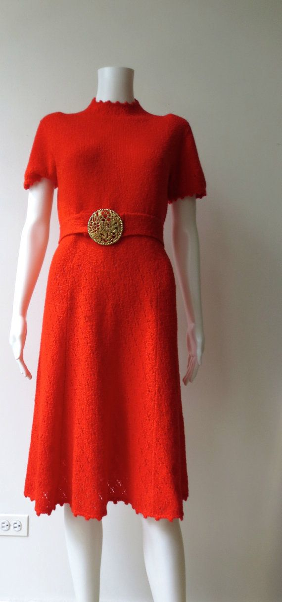 Amazing 1960's Red St John knit dress by Trixycat on Etsy, $88.00