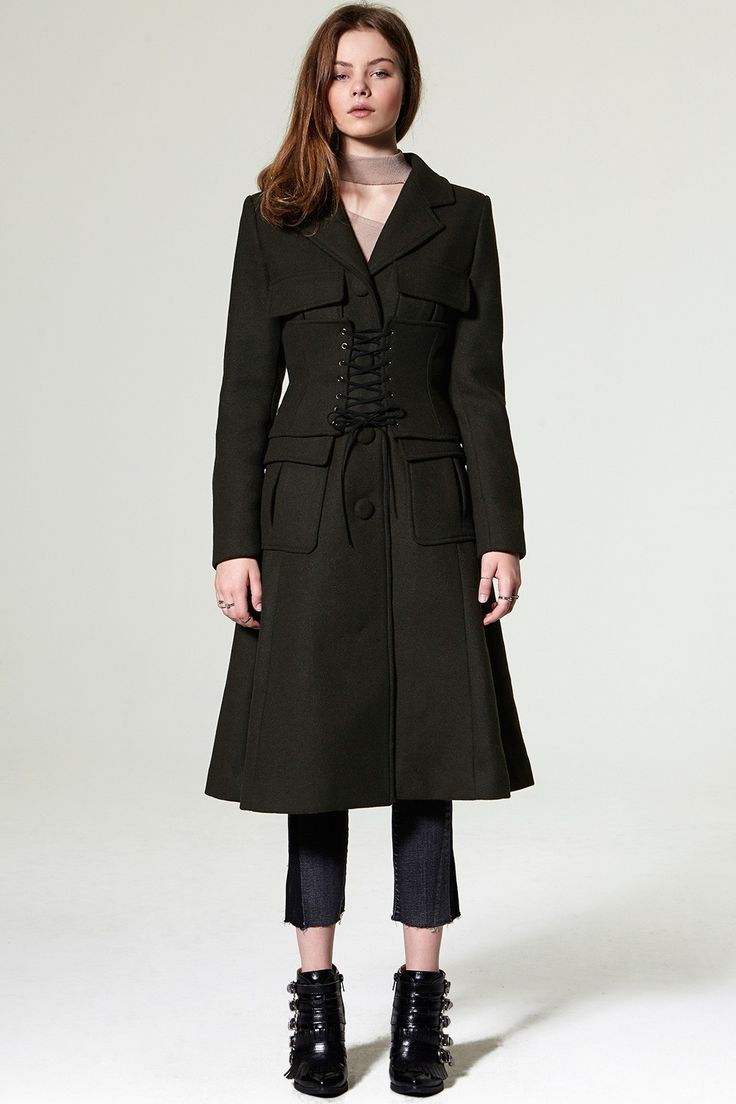 Dona Bustier Long Coat Discover the latest fashion trends online at storets.com