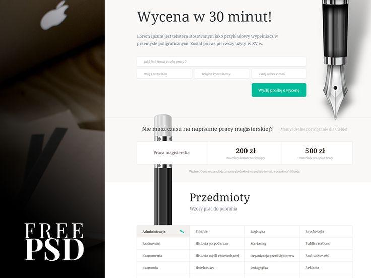 FREE PSD Template (1/365) by Marcin Czaja #web #design #psd #photoshop