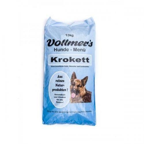 Aus der Kategorie Trockenfutter  gibt es, zum Preis von EUR 51,89  Für Hunde mit geringer bis normaler Aktivität, hält Ihren Hund gesund<br /><br />Vollmers Krokett <br /><br />Extrudierte Brocken-Vollnahrung für Hunde aller Rassen mit geringer bis normaler Aktivität!<br /><br />Die fleischhaltigen, schmackhaften Kroketten enthalten nur hochwertige Rohstoffe, die in einem neu entwickelten Herstellungsverfahren schonend aufgeschlossen werden. Dadurch ist die Nahrung leicht und…