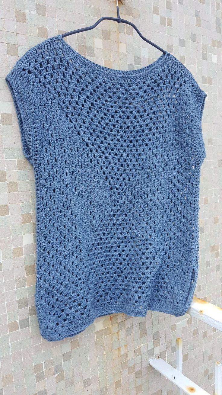 Granny square crochet top