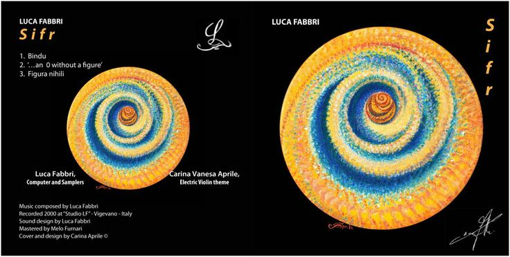 "Luca Fabbri ""SIFR""/ Music Composed by Luca Fabbri/ Recorded 2000 / Cover and Design by Carina Aprile"