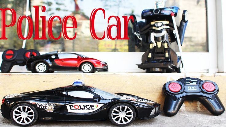 Full Box of Toys - Police Car Toys for Kids - Police chase Videos for Kids