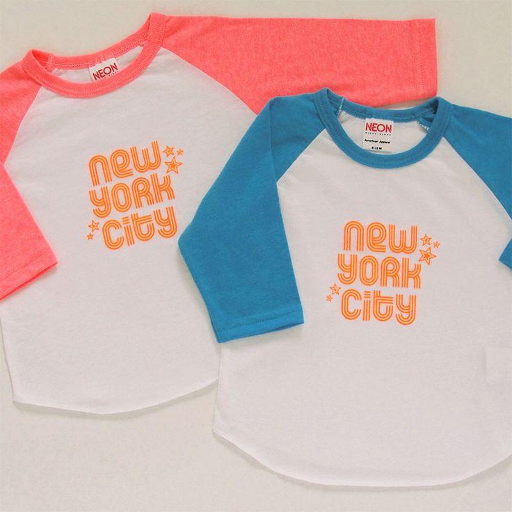 NEW YORK CITY BABY RAGLAN T-SHIRT   Wonder Threads