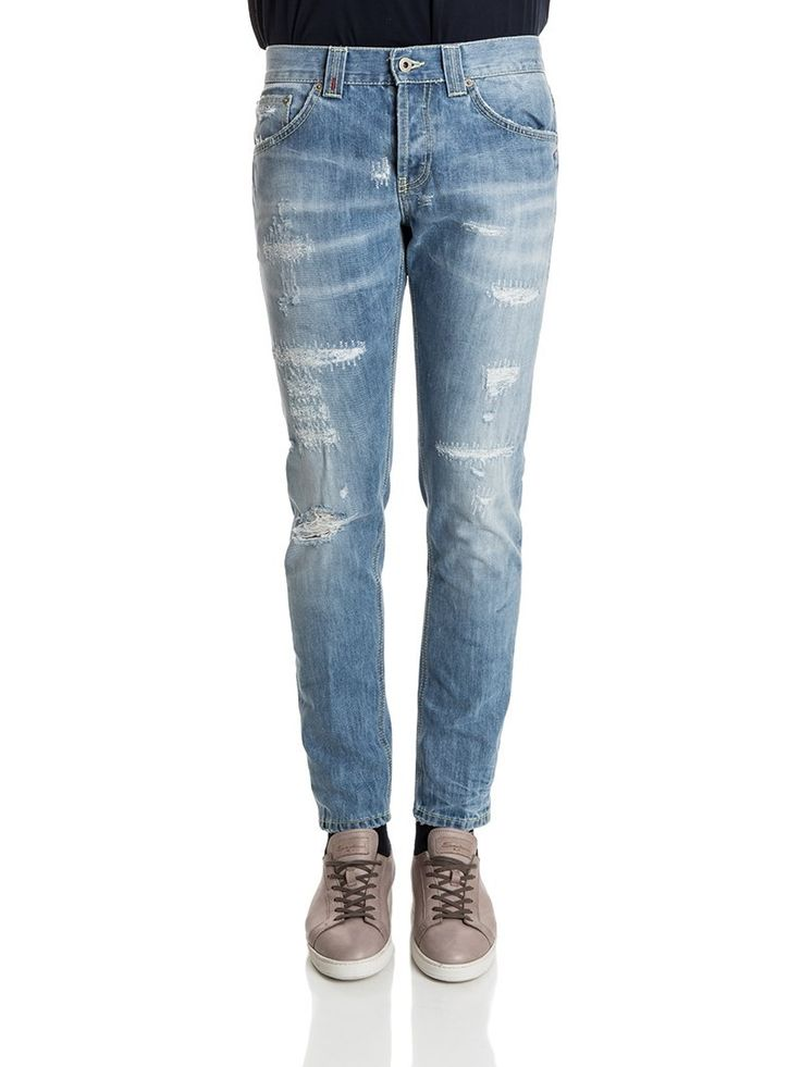 Dondup - Mius jeans - slim fit jeans - distressed and destroyed jeans