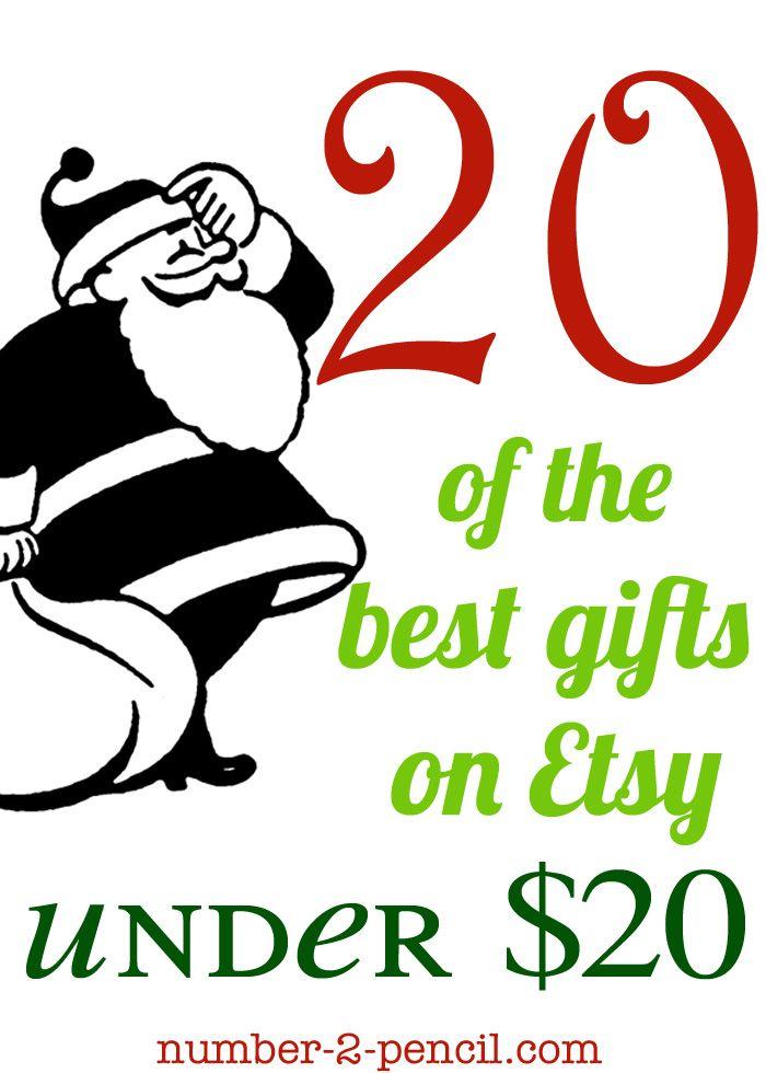 Twenty Christmas gift ideas for under twenty dollars, something for everyone of your list. So many cute ideas!