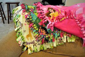 That Village House: No-sew fleece blankets