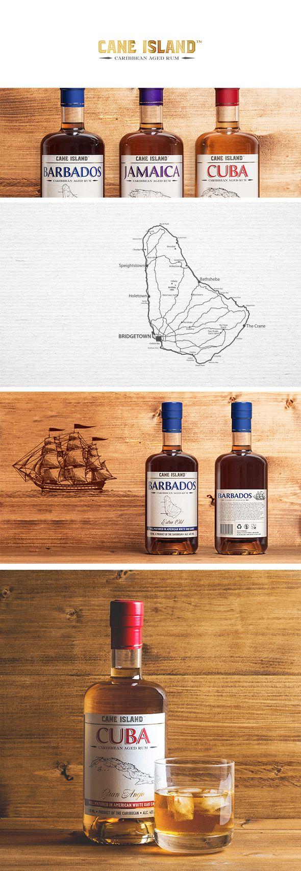 cane island aged rum label design #label #rum #spirits #design #barbados #jamaica #cuba #packaging #design #packagingdesign