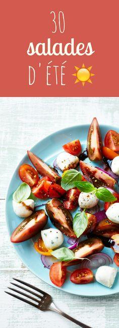 30 recettes de salades faciles, rapides et légères pour l'été !
