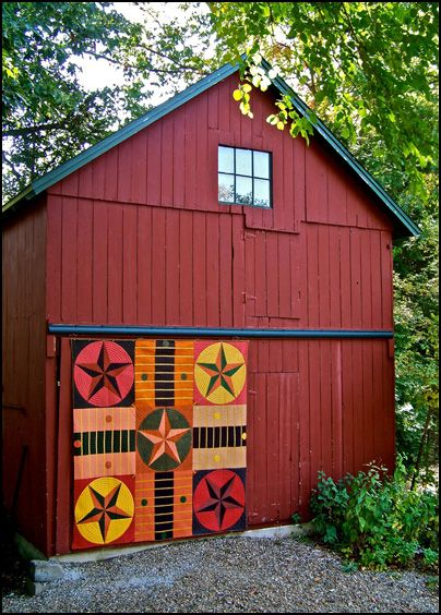 Painted Quilt Blocks on a Barn