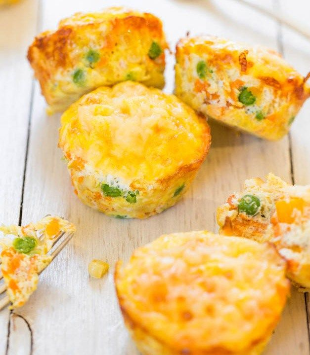 postup Slané zeleninové muffiny bez mouky