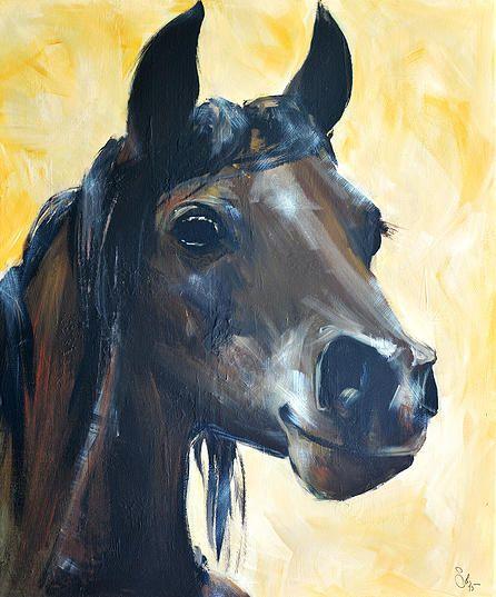 L'Enfant (ou cheval enfant) - Acrylique sur toile Format 50x60 cm (2015)