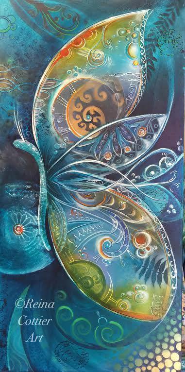 Butterfly by Reina Cottier Art  www.facebook.com/reinacottierart