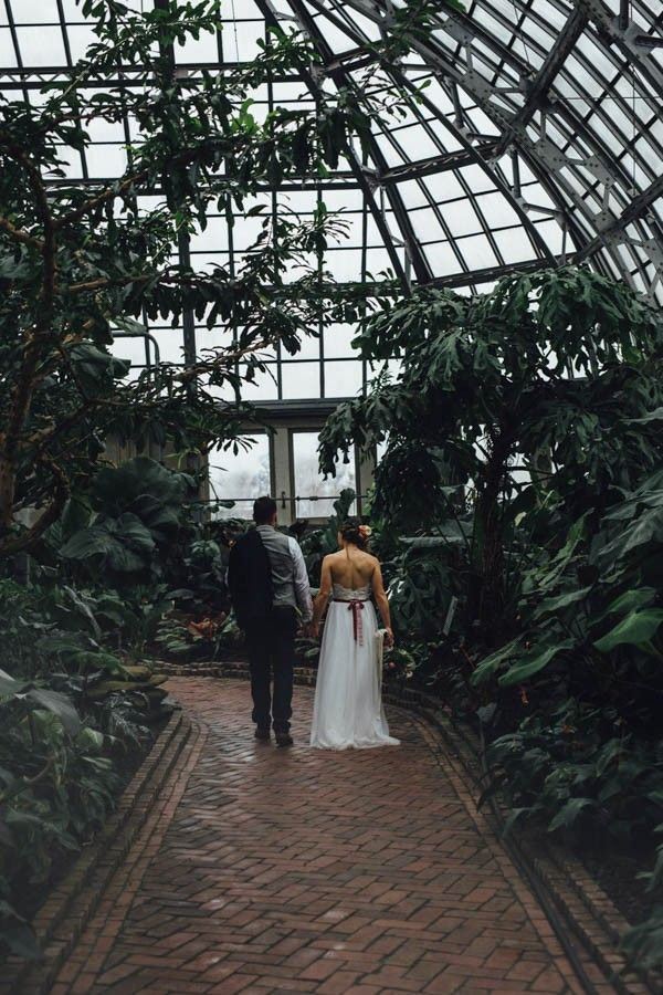 Industrial Garden Wedding Inspiration at Garfield Park Conservatory