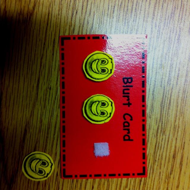 Blurt card