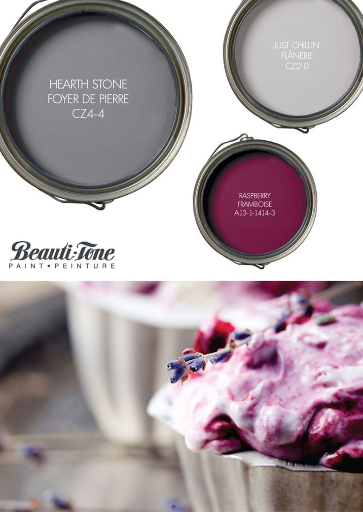 Refresh your space with calorie-free decadence! #BeautiTone's delicious palette of Hearthstone, #Raspberry, and Just Chillin' is a sweet treat for your home décor.