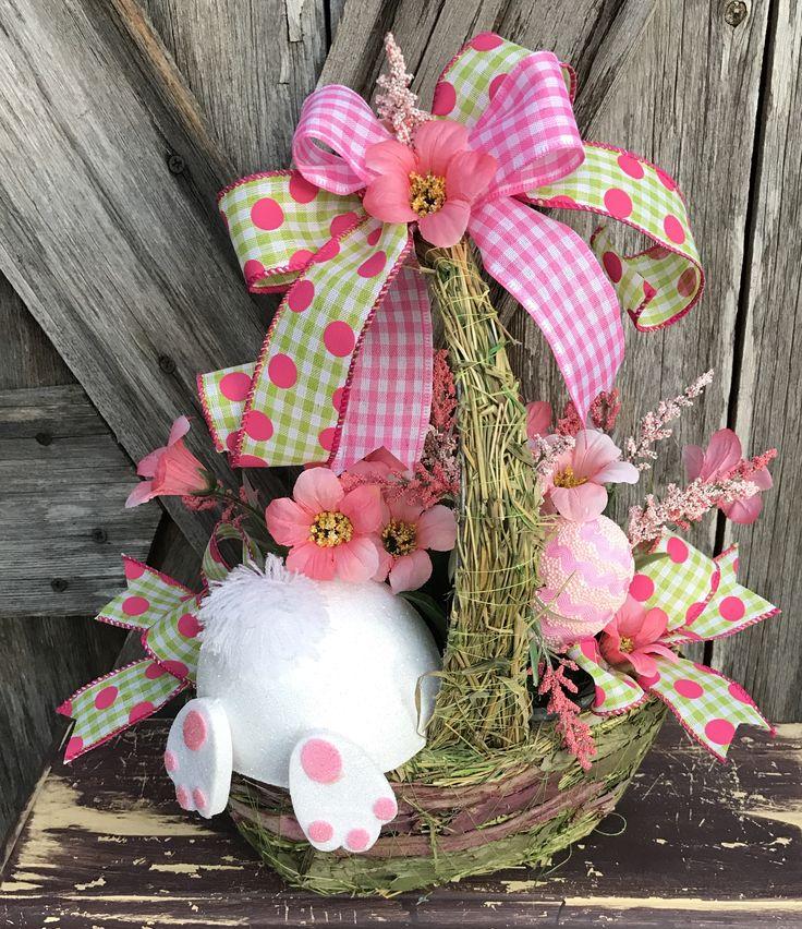 Bunny Butt Basket by Ba Bam Wreaths