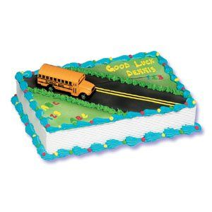 School Bus Cake Kit