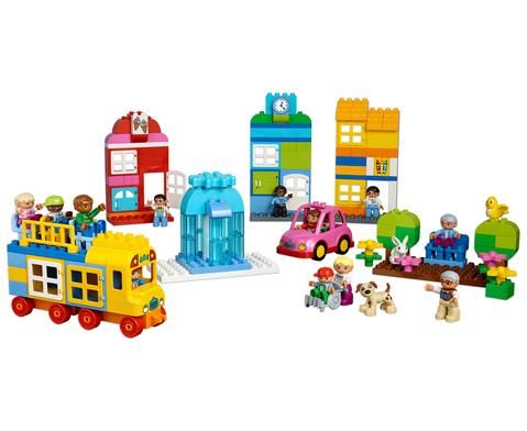LEGO DUPLO Unsere Stadt 280 Teile - eine eigene kleine Stadt bauen - faszinierend! MIt vielen Häusern, Tieren, Bäumen und Fahrzeugen - alles, was man für eine eigene Stadt braucht :) #education #kindergarten #bauen #bauwerke #fördern #kiga #kita #kindi #betzold #betzoldkiga