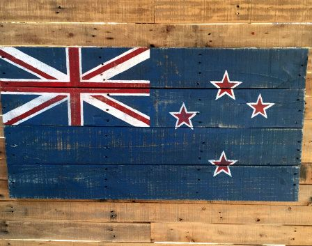new zealand flag on pallet - Google Search