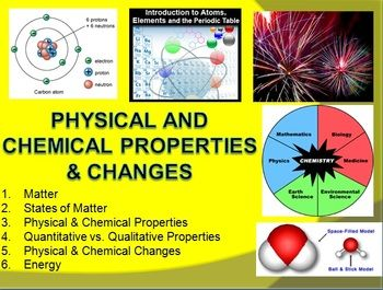 physical and chemical properties worksheet physical properties ...