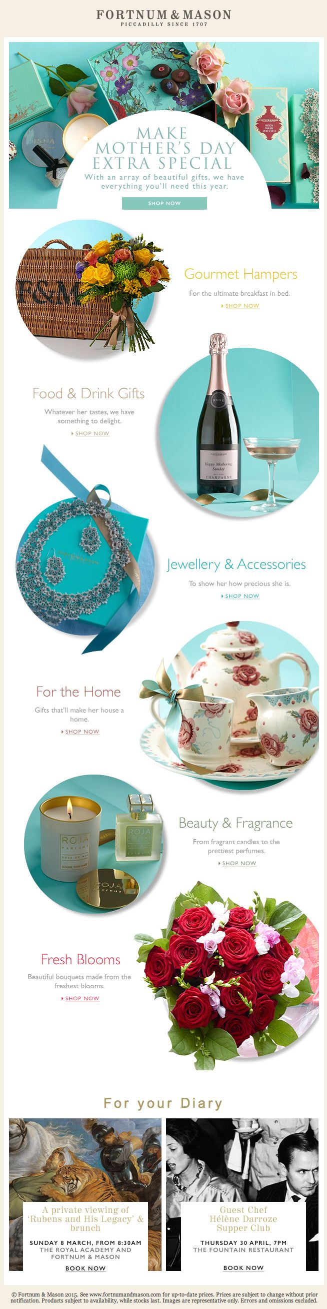 Show Your Devotion | Make Mother's Day Extra Special | Fortnum & Mason | 26 Feb 2015