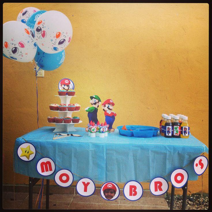 Mesa de dulces Mario Bros #Felicità