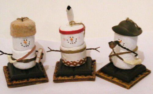 S'mores Original Lewis, Clark, Sacagawea, Christmas Ornaments Set Of 3 From Original Smores Collection