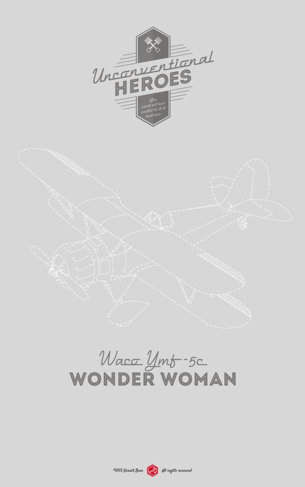 Unconventional Heroes | Illustrator: Gerald Bear #wonderwoman #invisibleplane