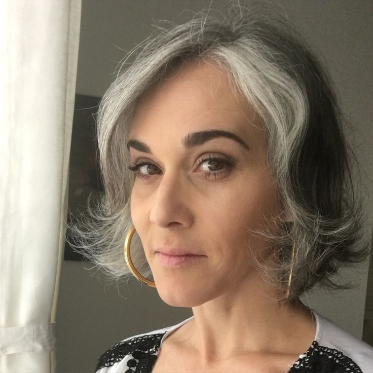 How Do I Transition To Grey Hair Gracefully Dark Brown Hairs