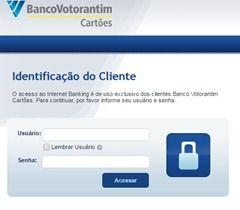 Emitir fatura dos Cartões BV - Banco Votorantim