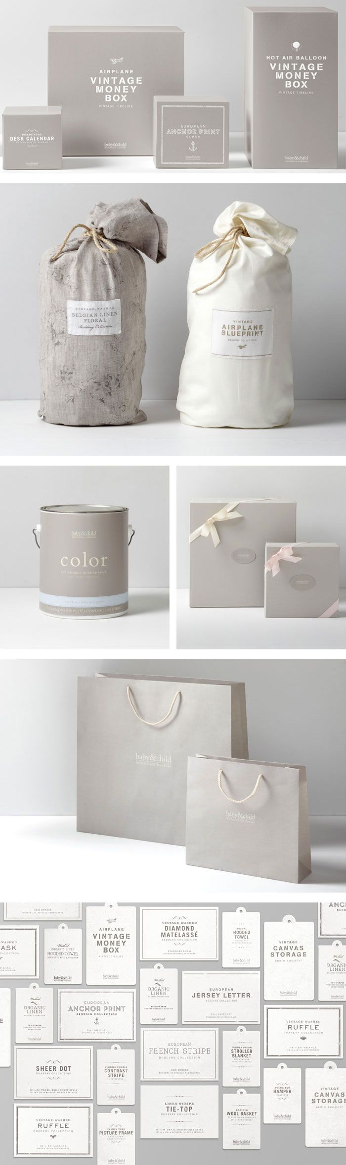 Restoration Hardware Baby & Child. #identity #branding #packagedesign | Very similar to my design.