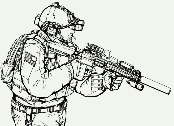 Картинка спецназа как нарисовать