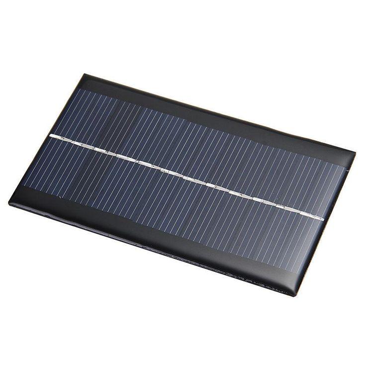 Nueva 6 v 1 w sistema de paneles solares de energía solar módulo de células solares diy Viajando Cargadores de Teléfonos Celulares de La Batería de Paneles solares Para La Luz En Casa de Regalo
