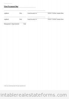 Sample Printable application receipt agreement 2 Form