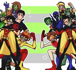 My art robin beast boy impulse young justice kid flash miss martian blue beetle