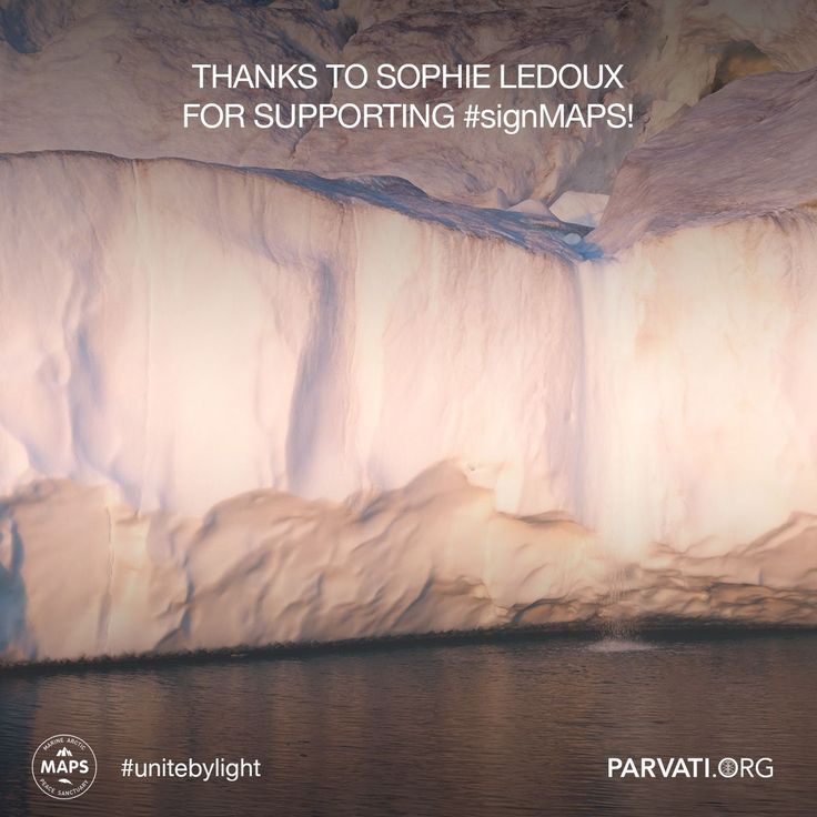 Gratitude to Sophie LeDoux for supporting MAPS at parvati.org!   Since our inception two years ago, Parvati.org has been self-funded and 100% volunteer-driven. Our goal is to realize MAPS: the Marine Arctic Peace Sanctuary by the end of 2018. The planet can't wait. Please consider making a donation at parvati.org. If you have not already, please sign the MAPS petition!