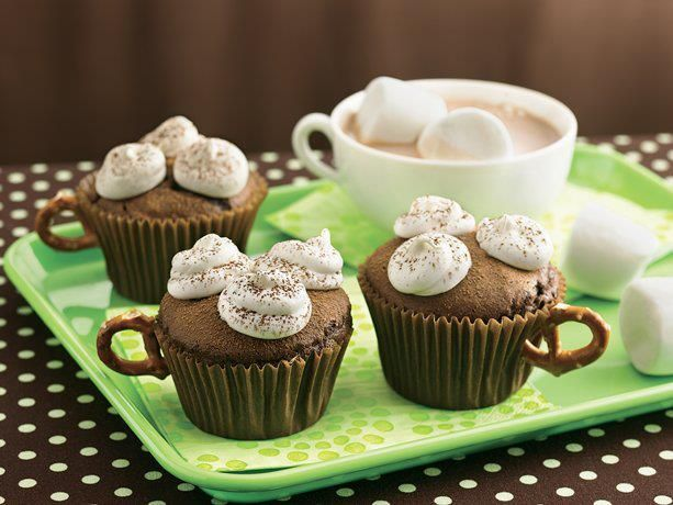 Yummy hot cocoa cupcakes! | Food! | Pinterest
