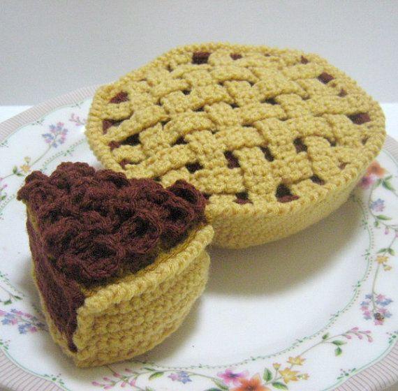 Crochet Food Pattern Pie Crochet Pattern PDF Instant por melbangel