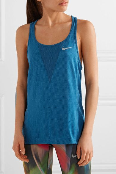 Nike - Zonal Cooling Relay Dri-fit Stretch-mesh Tank - Cobalt blue - medium