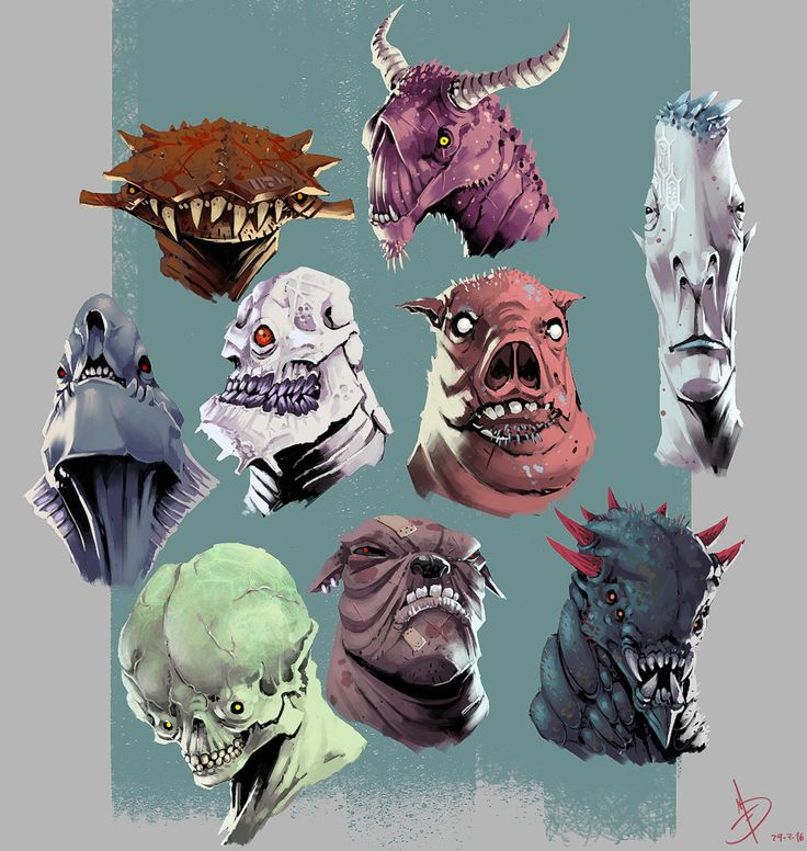Alien Faces Exploration by Ignacio Felechosa   Illustration   2D   CGSociety