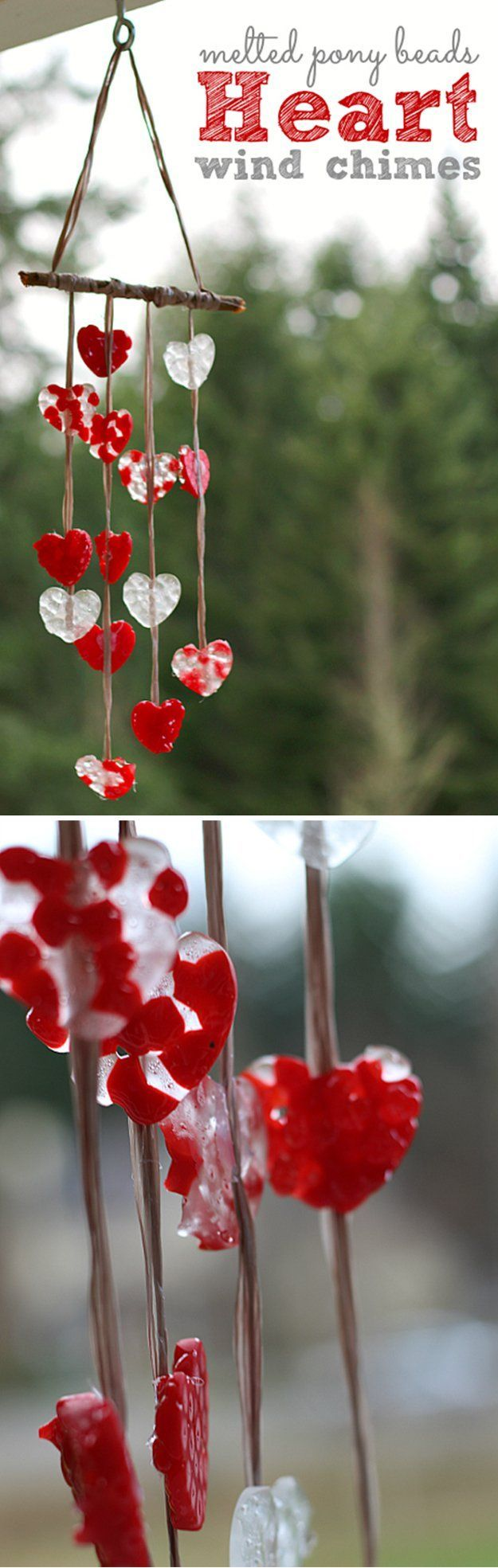 How to Make Beautiful DIY Wind Chime with Beads | Melted Bead Chimes by DIY Ready at http://diyready.com/32-diy-wind-chimes/