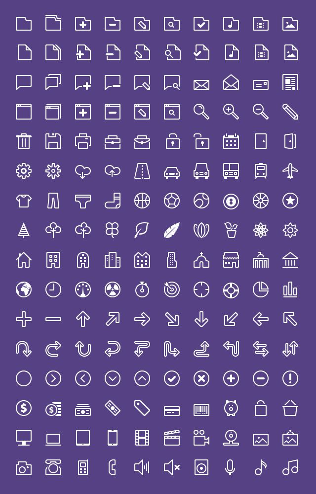 Delicious Monochromatic Icons by Zlatko (via Creattica)