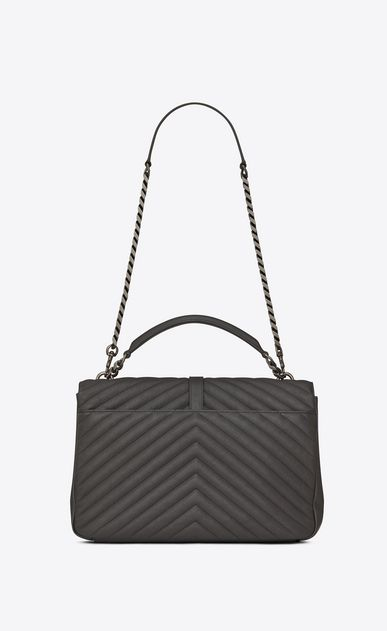 SAINT LAURENT Monogram College Woman Large COLLEGE bag in asphalt gray  quilted leather b V4 fa43aa4c5c190