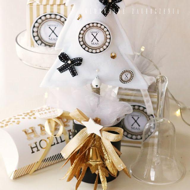 Mimowolne Zauroczenia-blog, Święta Bożego Narodzenia, XMAS, Christmas, choinka z filcu