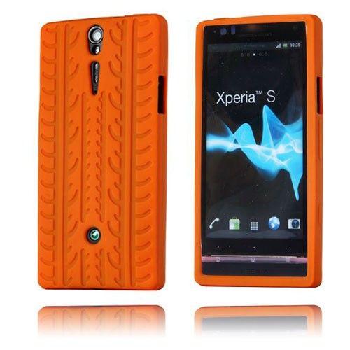 Tire (Oransje) Sony Xperia S Deksel